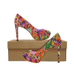 Puzzle by Popart Lover Women's High Heels (Model 044)