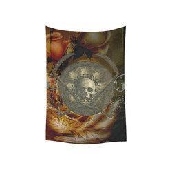 "Awesome creepy skulls Cotton Linen Wall Tapestry 40""x 60"""