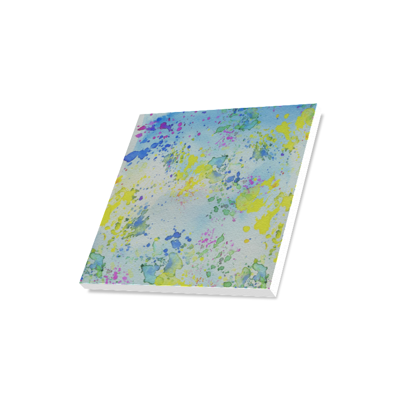 "Watercolors splashes Canvas Print 16""x16"""