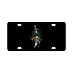 Symbolic Sword Classic License Plate