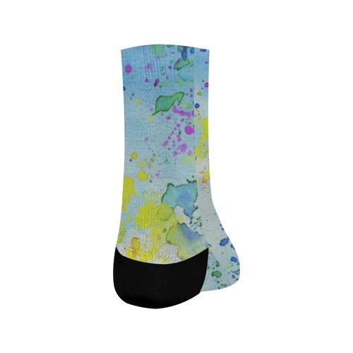 Watercolors splashes Crew Socks