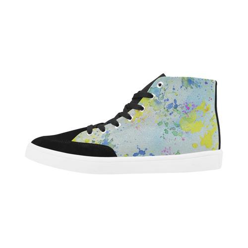 Watercolors splashes Herdsman High Top Shoes for Men (Model 038)