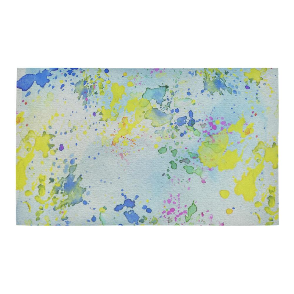 """Watercolors splashes Azalea Doormat 30"""" x 18"""" (Sponge Material)"""