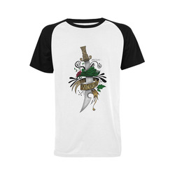 Symbolic Sword Men's Raglan T-shirt Big Size (USA Size) (Model T11)