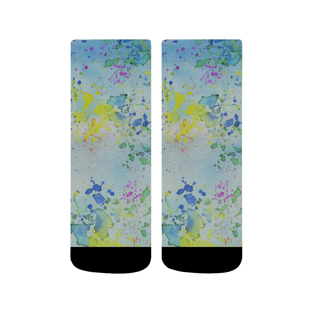 Watercolors splashes Quarter Socks