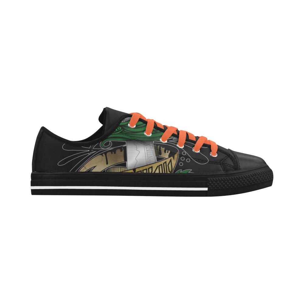 Symbolic Sword Aquila Microfiber Leather Women's Shoes (Model 028)