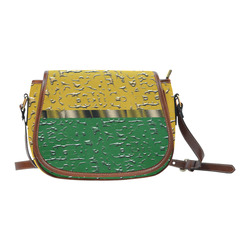 Orange and Green Melting Pot Saddle Bag/Large (Model 1649)