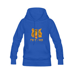 Tiger Licks His Lips Free Hugs Funny Romantic Women's Classic Hoodies (Model H07)