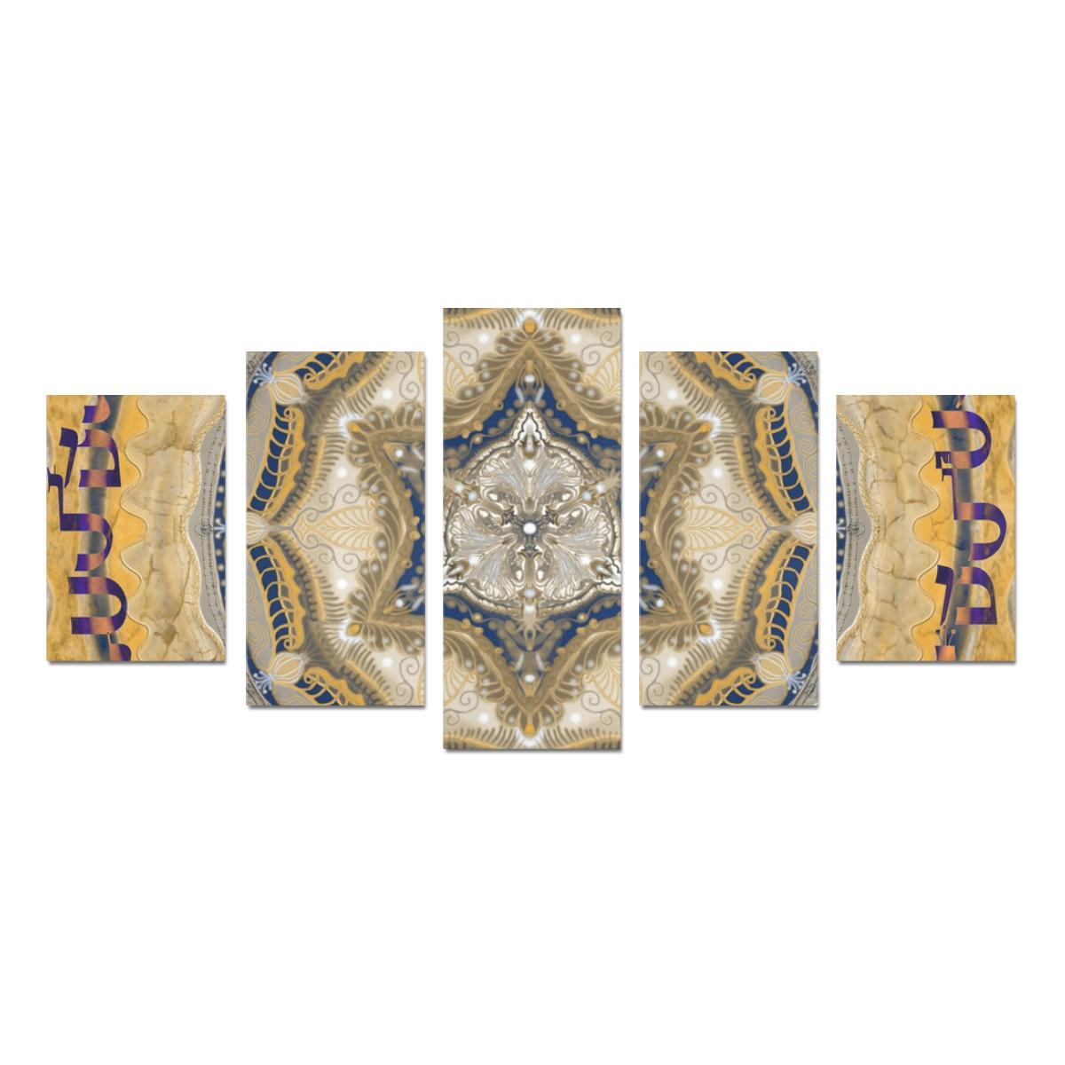 mandala maguen-13- alphabet Canvas Print Sets D (No Frame)