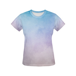 Lovely Aquarell Moves All Over Print T-Shirt for Women (USA Size) (Model T40)