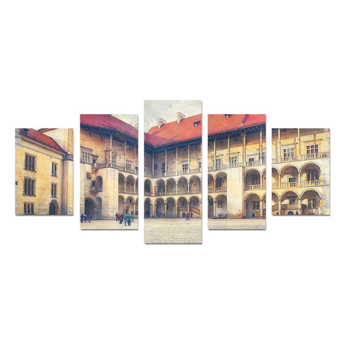 Cracow Krakow city art Canvas Print Sets D (No Frame)