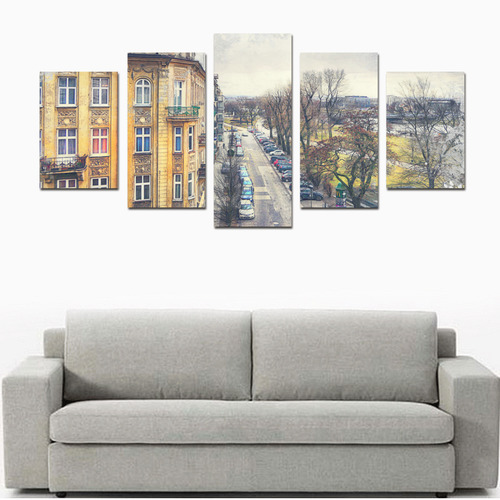 Cracow Krakow city art Canvas Print Sets D (No Frame)