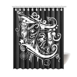 "Zodiac - Gemini Shower Curtain 69""x84"""