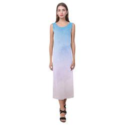 Lovely Aquarell Moves Phaedra Sleeveless Open Fork Long Dress (Model D08)