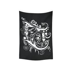 "Zodiac - Gemini Cotton Linen Wall Tapestry 40""x 60"""