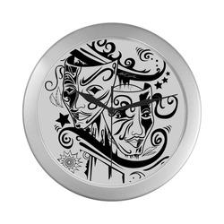 Zodiac - Gemini Silver Color Wall Clock