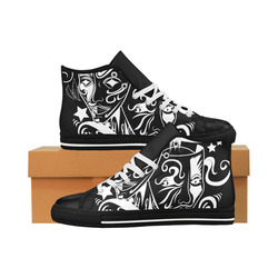 Zodiac - Gemini Aquila High Top Microfiber Leather Women's Shoes (Model 027)