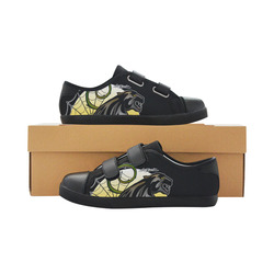 Panther Velcro Canvas Kid's Shoes (Model 008)