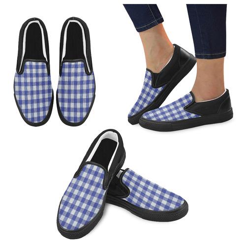 BLUEKARO 12 Women's Unusual Slip-on Canvas Shoes (Model 019)