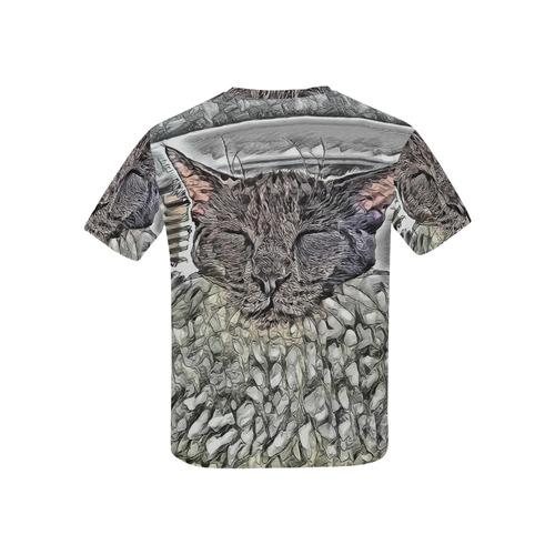 SLEEPING CAT 4KIDS Kids' All Over Print T-shirt (USA Size) (Model T40)