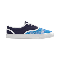 Blue Toy Balloons Flight Air Sky Atmosphere Cool Aries Women's Canvas Shoes (Model 029)