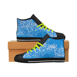 Blue Toy Balloons Flight Air Sky Atmosphere Cool Aquila High Top Microfiber Leather Men's Shoes (Model 027)