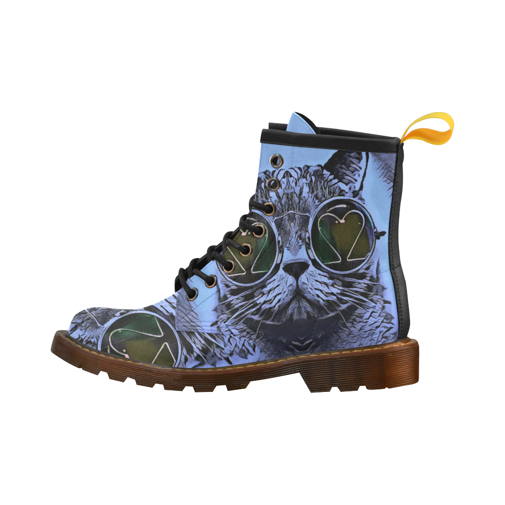 CAT BLUE High Grade PU Leather Martin Boots For Women Model 402H
