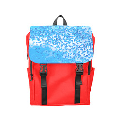 Blue Toy Balloons Flight Air Sky Dream Casual Shoulders Backpack (Model 1623)