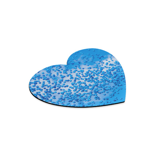 Blue Toy Balloons Flight Air Sky Dream Heart-shaped Mousepad