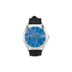 Blue Toy Balloons Flight Air Sky  Atmosphere Time Women's Classic Leather Strap Watch(Model 203)