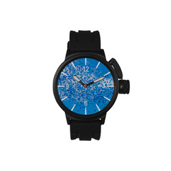 Blue Toy Balloons Flight Air Sky Atmosphere Time Men's Sports Watch(Model 309)