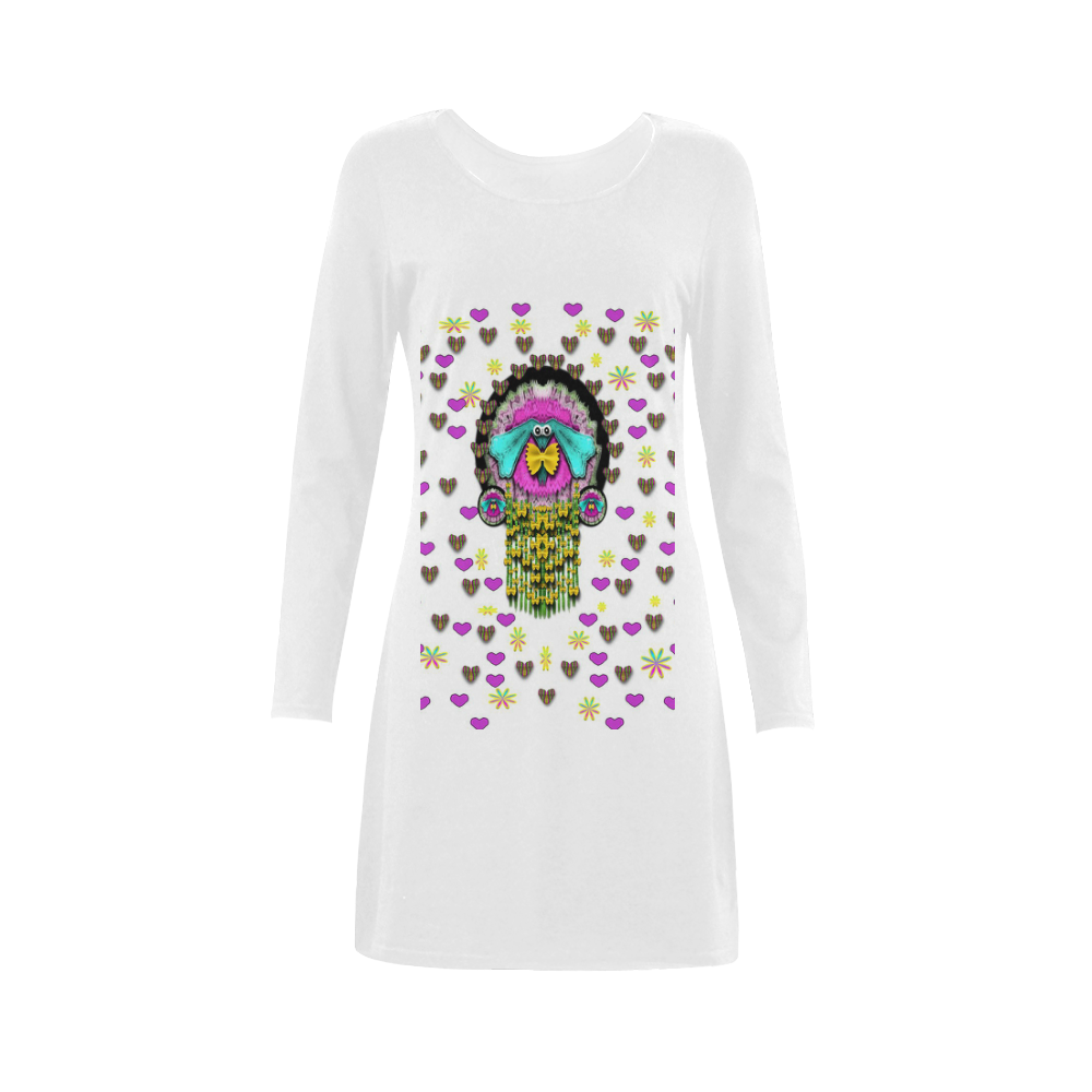 THIS Is The WIENER DOG Demeter Long Sleeve Nightdress (Model D03)