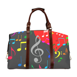 Singing Heart Red Song Color Music Love Romantic Classic Travel Bag (Model 1643) Remake