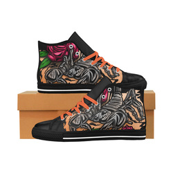 Zodiac - Scorpio Aquila High Top Microfiber Leather Women's Shoes (Model 027)