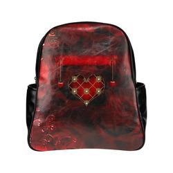 Beautiful heart Multi-Pockets Backpack (Model 1636)