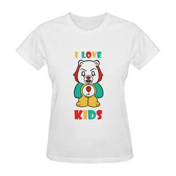 It Bear I Love Kids Sunny Women's T-shirt (Model T05)