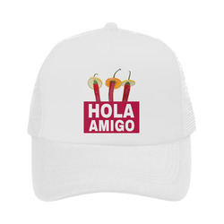 Hola Amigo Three Red Chili Peppers Friend Funny Trucker Hat