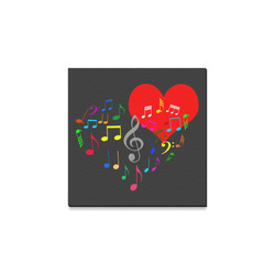 """Singing Heart Red Song Color Music Love Romantic Canvas Print 8""""x8"""""""