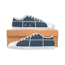 Solar Technology Power Panel Battery Photovoltaic Canvas Shoes for Women/Large Size (Model 016)