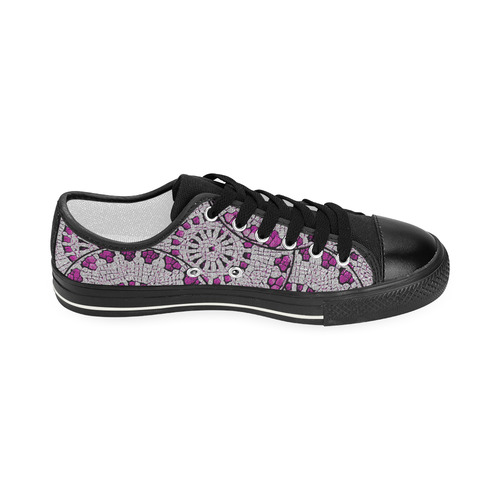 PATTERN PINK ABSTRACT Women's Classic Canvas Shoes (Model 018)