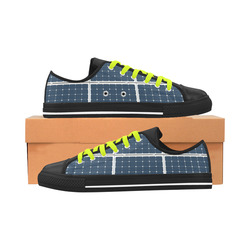 Solar Technology Power Panel Battery Photovoltaic Aquila Microfiber Leather Men's Shoes (Model 028)