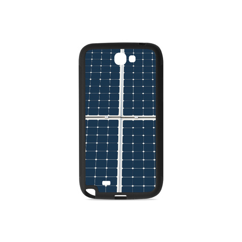 Solar Technology Power Panel Image Energy Cell Rubber Case for Samsung Galaxy Note 2