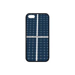 Solar Technology Power Panel Image Energy Cell Rubber Case for iPhone SE