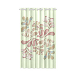 """Pastel Floral Dance Pattern New Window Curtain 50"""" x 84""""(One Piece)"""