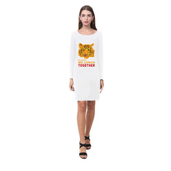 Funny Wild Tiger Today We Lunch Together Romantic Demeter Long Sleeve Nightdress (Model D03)