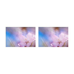Sakura Cherry Blossom Spring Heaven Light Beauty Placemat 12'' x 18'' (Two Pieces)