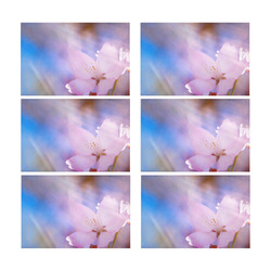 Sakura Cherry Blossom Spring Heaven Light Beauty Placemat 12'' x 18'' (Six Pieces)