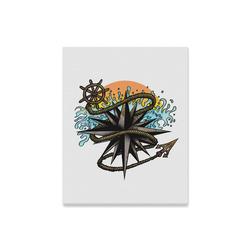"Nautical Splash Canvas Print 16""x20"""