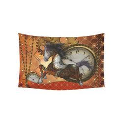 """Steampunk, awesome steampunk horse Cotton Linen Wall Tapestry 60""""x 40"""""""