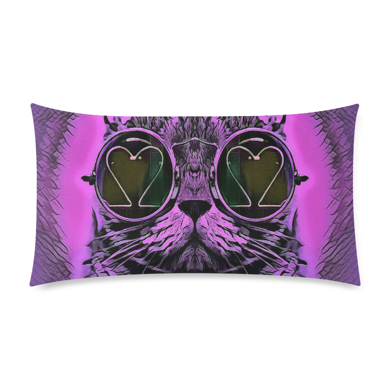 "PINK CAT Custom Rectangle Pillow Case 20""x36"" (one side)"